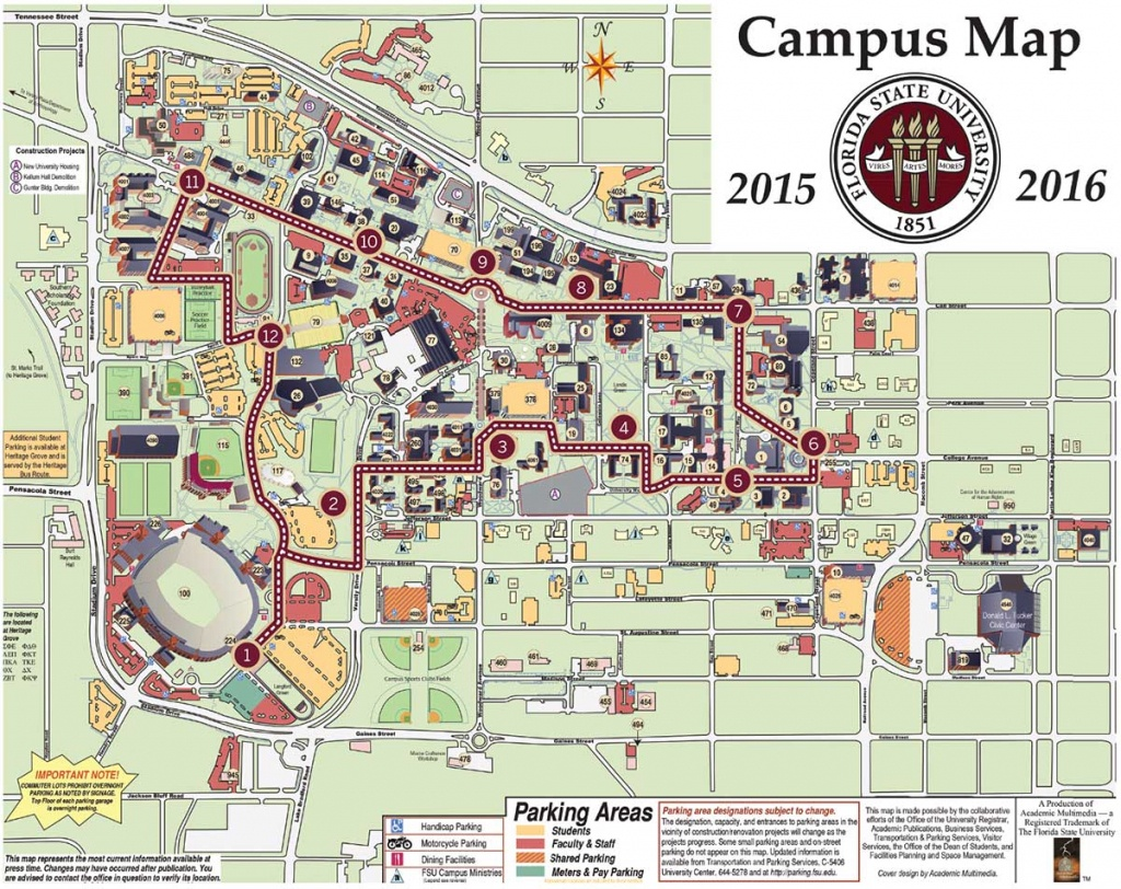 Florida State Campus Map | Woestenhoeve - Florida State University Map