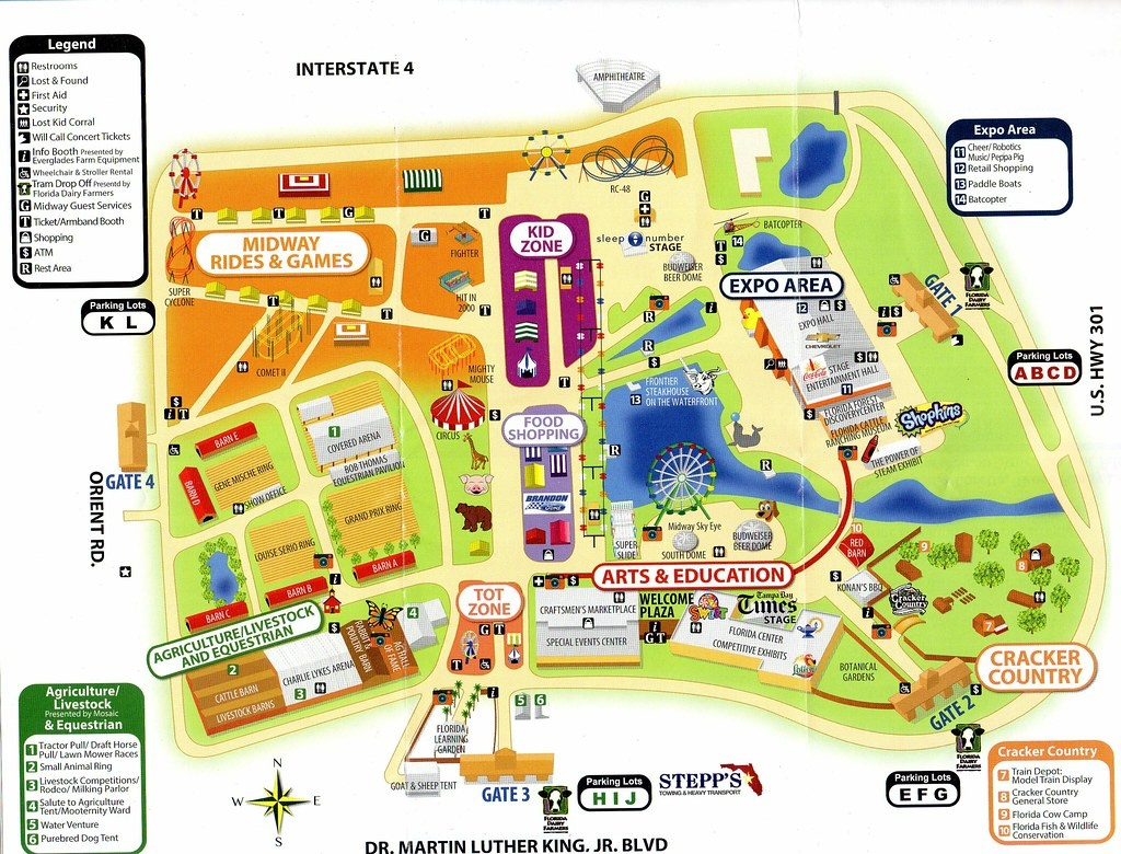 Florida State Fairgrounds Map | Station Map - Florida State Fairgrounds Map