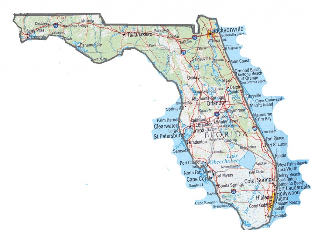 Florida State Map. Map Of Florida State | Vidiani | Maps Of All - Florida St Map