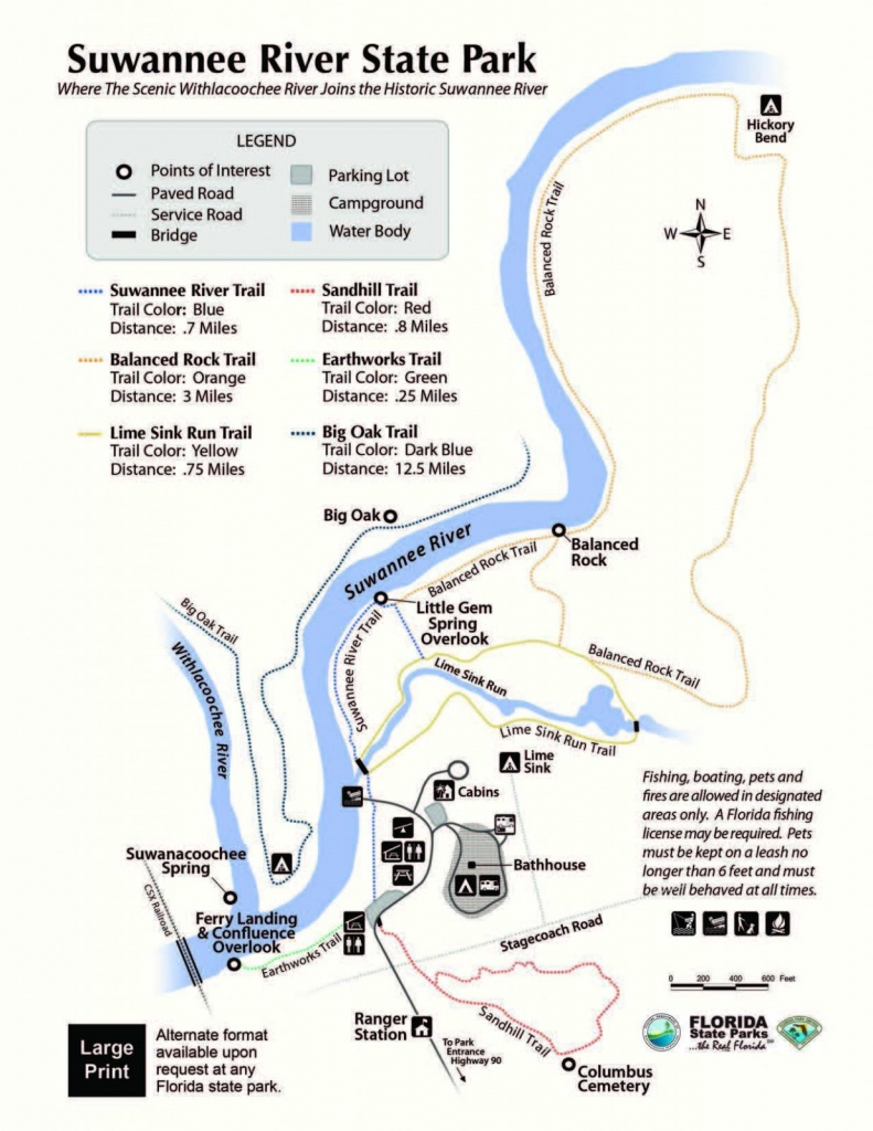 Florida State Park Map - Florida State Parks Camping Map
