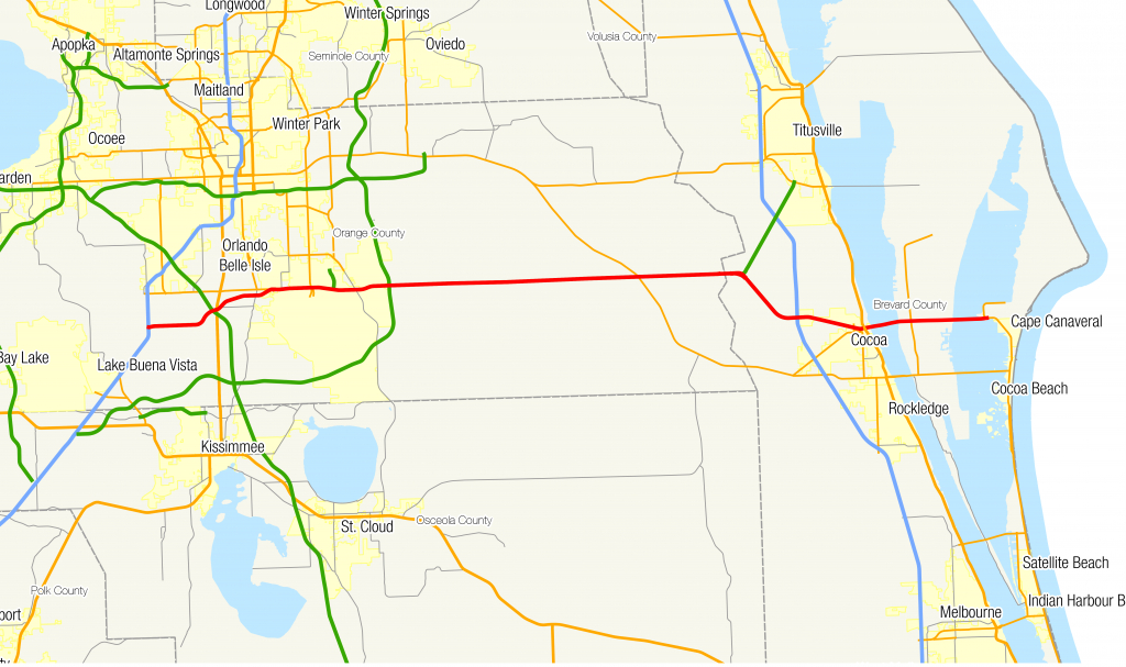 Florida State Road 528 - Wikipedia - Central Florida Attractions Map