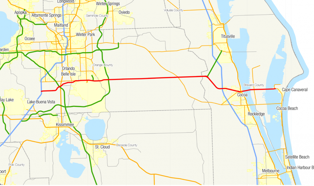 Florida State Road 528 - Wikipedia - Road Map Of Central Florida