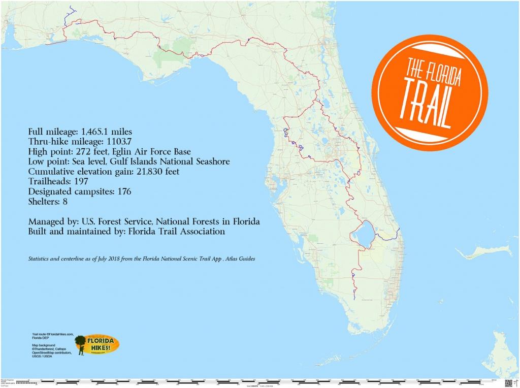 Florida Trail | Florida Hikes! - Rails To Trails Florida Map