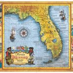Florida Treasure Map | Historic Print & Map Company - Historic Florida Maps
