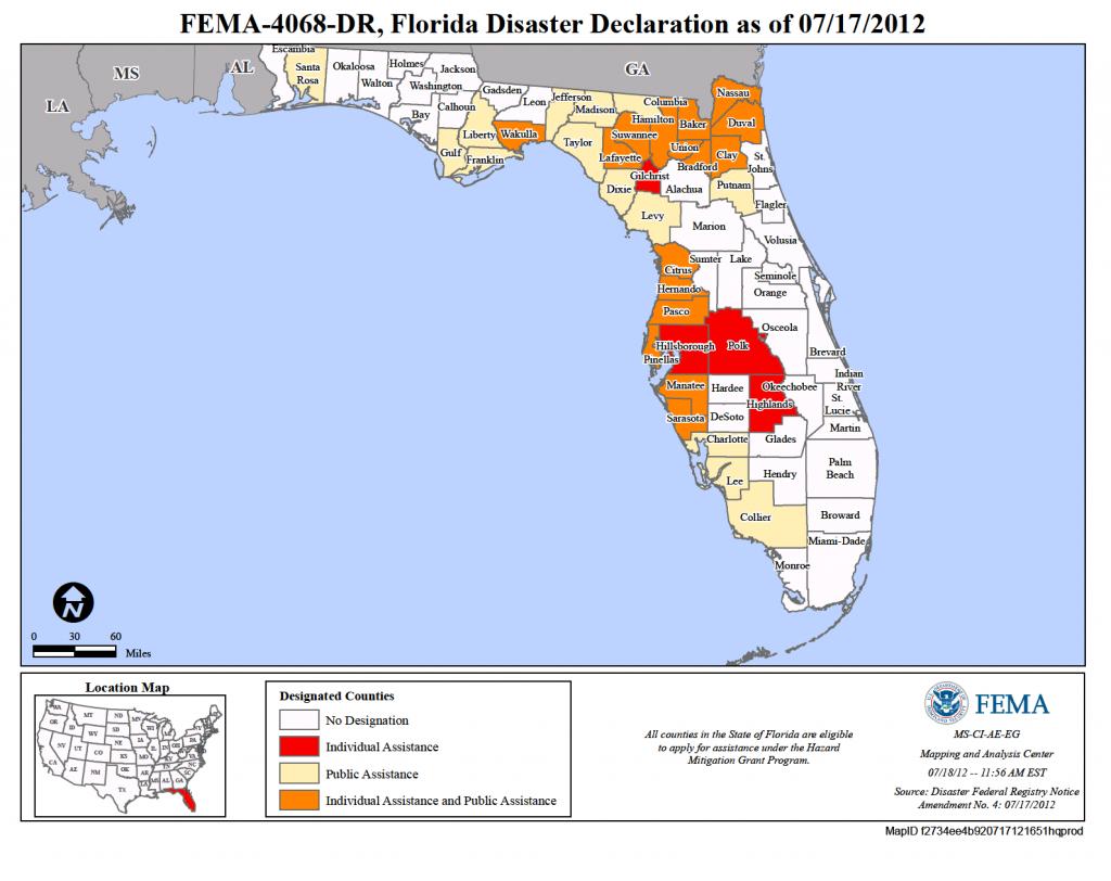 Florida Tropical Storm Debby (Dr-4068) | Fema.gov - Florida Disaster Map