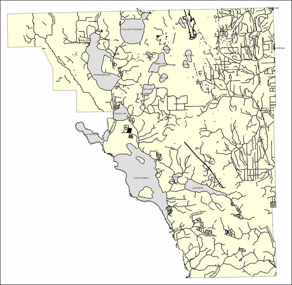 Florida Waterways: Osceola County Outline, 2008 - Florida Waterways Map