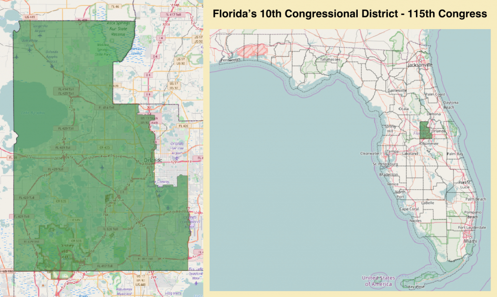 Florida's 10Th Congressional District - Wikipedia - Florida House District 64 Map