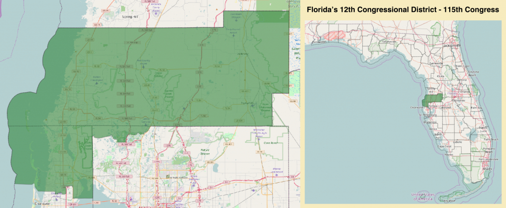 Florida's 12Th Congressional District - Wikipedia - Florida House District 64 Map
