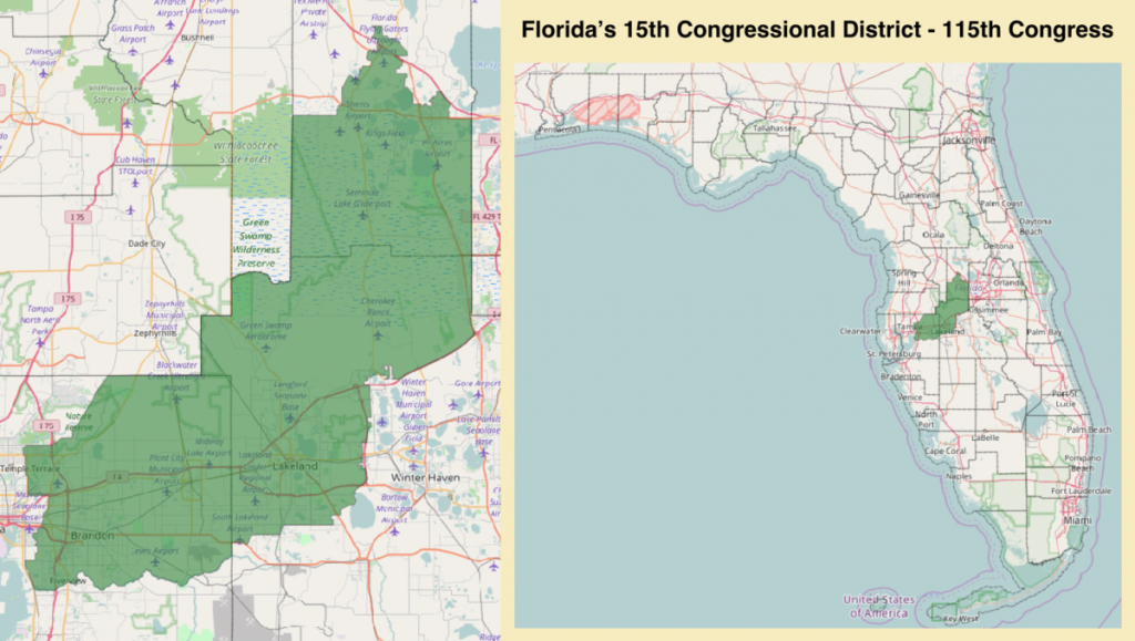 Florida's 15Th Congressional District - Wikipedia - Florida 6Th District Map