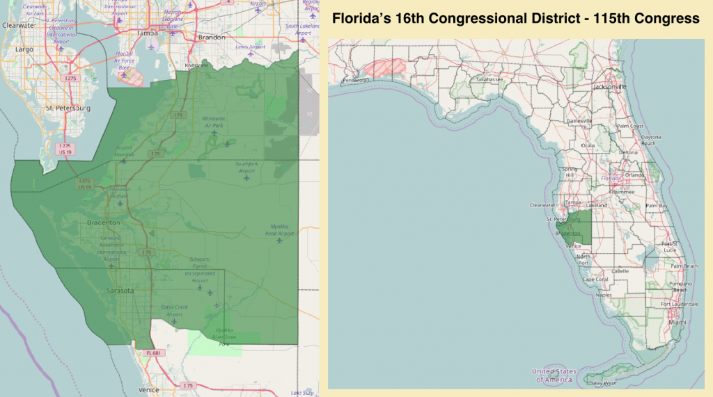 Florida's 16Th Congressional District - Wikipedia - Florida House District 64 Map