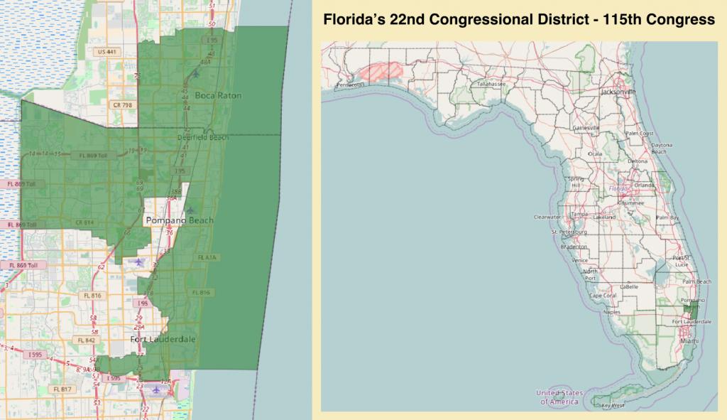 Florida's 22Nd Congressional District - Wikipedia - Boca Florida Map