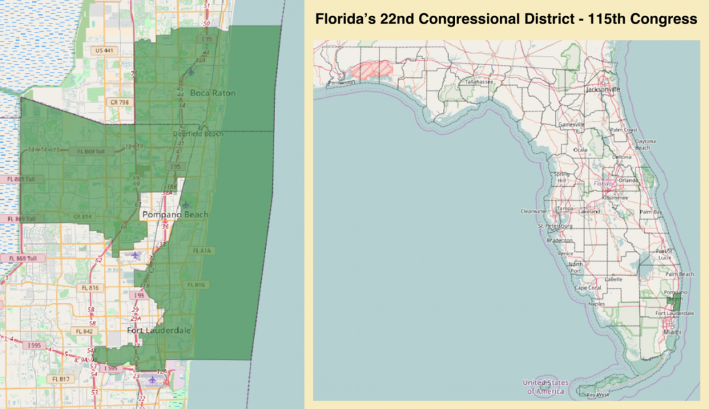 Florida's 22Nd Congressional District - Wikipedia - Sunrise Beach Florida Map