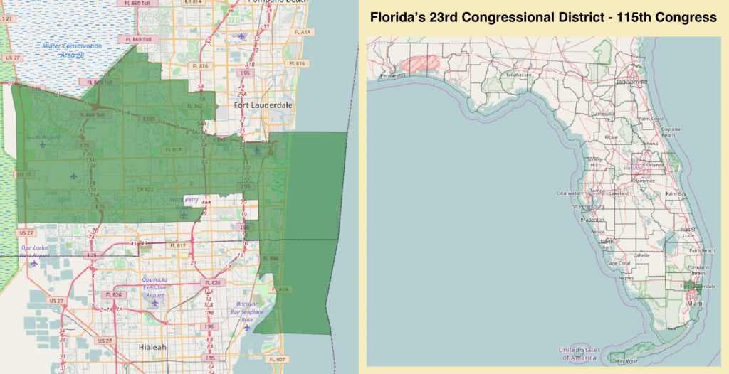 Florida's 23Rd Congressional District - Wikipedia - Florida 6Th District Map