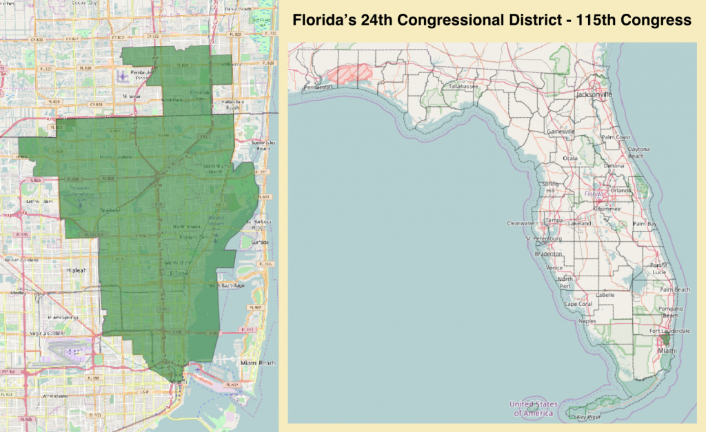 Florida's 24Th Congressional District - Wikipedia - Florida Congressional District Map