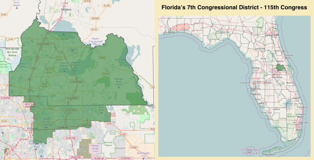 Florida's 7Th Congressional District - Wikipedia - Florida House District 115 Map