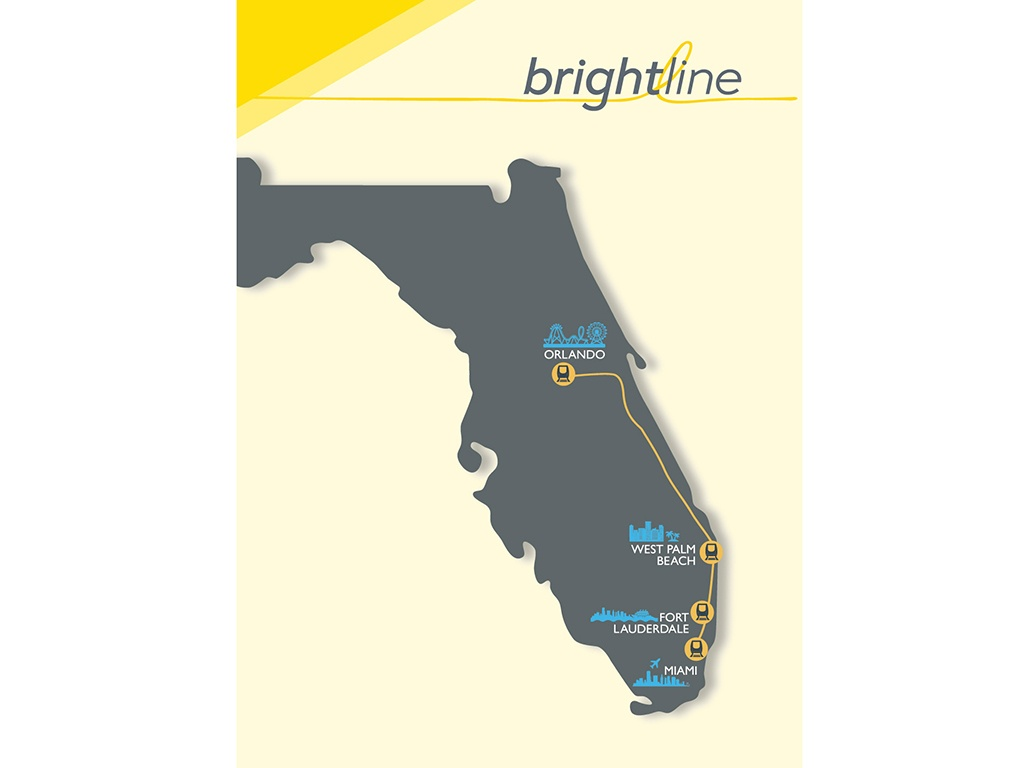 Florida's Brightline To 'take The Grey Out Of Travel' - Railway Gazette - Brightline Florida Map