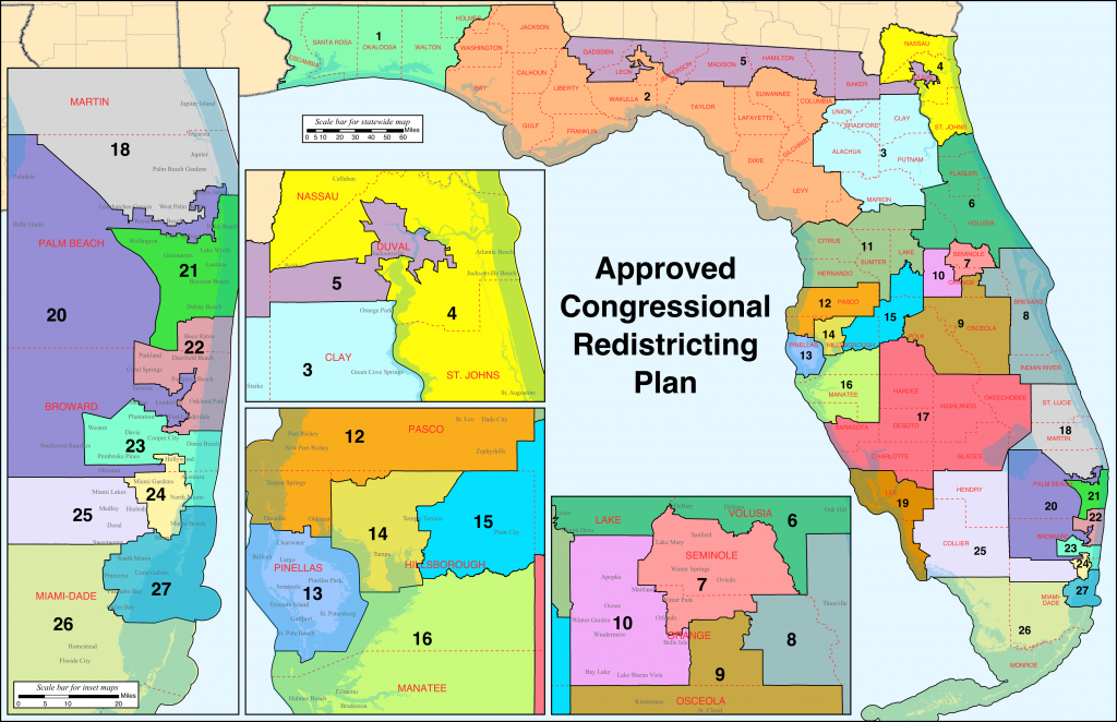 Florida's Congressional Districts - Wikipedia - Florida Voting Districts Map