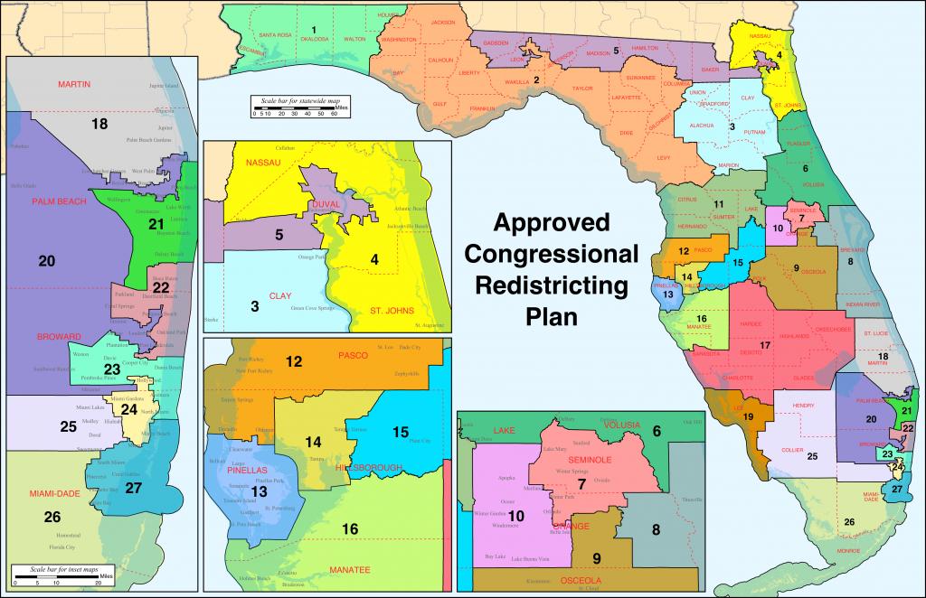 Florida's Congressional Districts - Wikipedia - Lake Alfred Florida Map