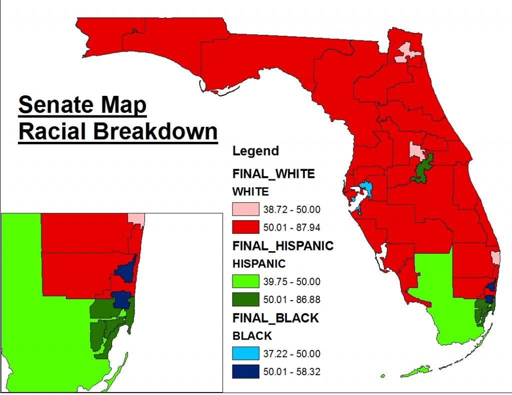 Florida's New (Final) State Senate Map « Mattsmaps - Florida Snake Problem Map