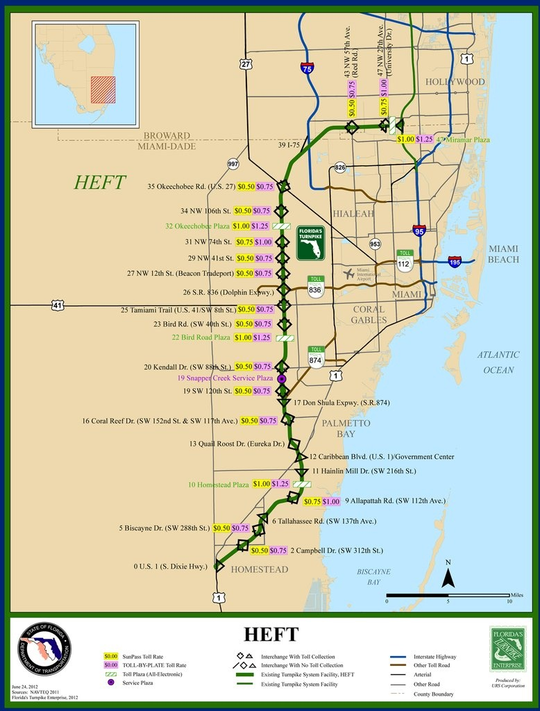 Florida's Turnpike - Maplets - Yeehaw Junction Florida Map
