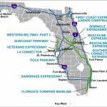 Florida's Turnpike   The Less Stressway   Road Map Of North Florida