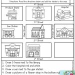 Follow Directions  Read The Directions And Add The Details To The   Map Symbols For Kids Printables