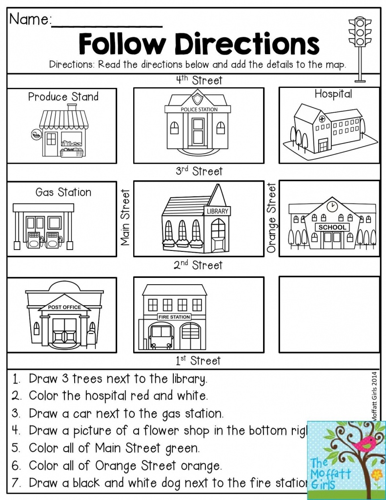 Follow Directions- Read The Directions And Add The Details To The - Map Symbols For Kids Printables