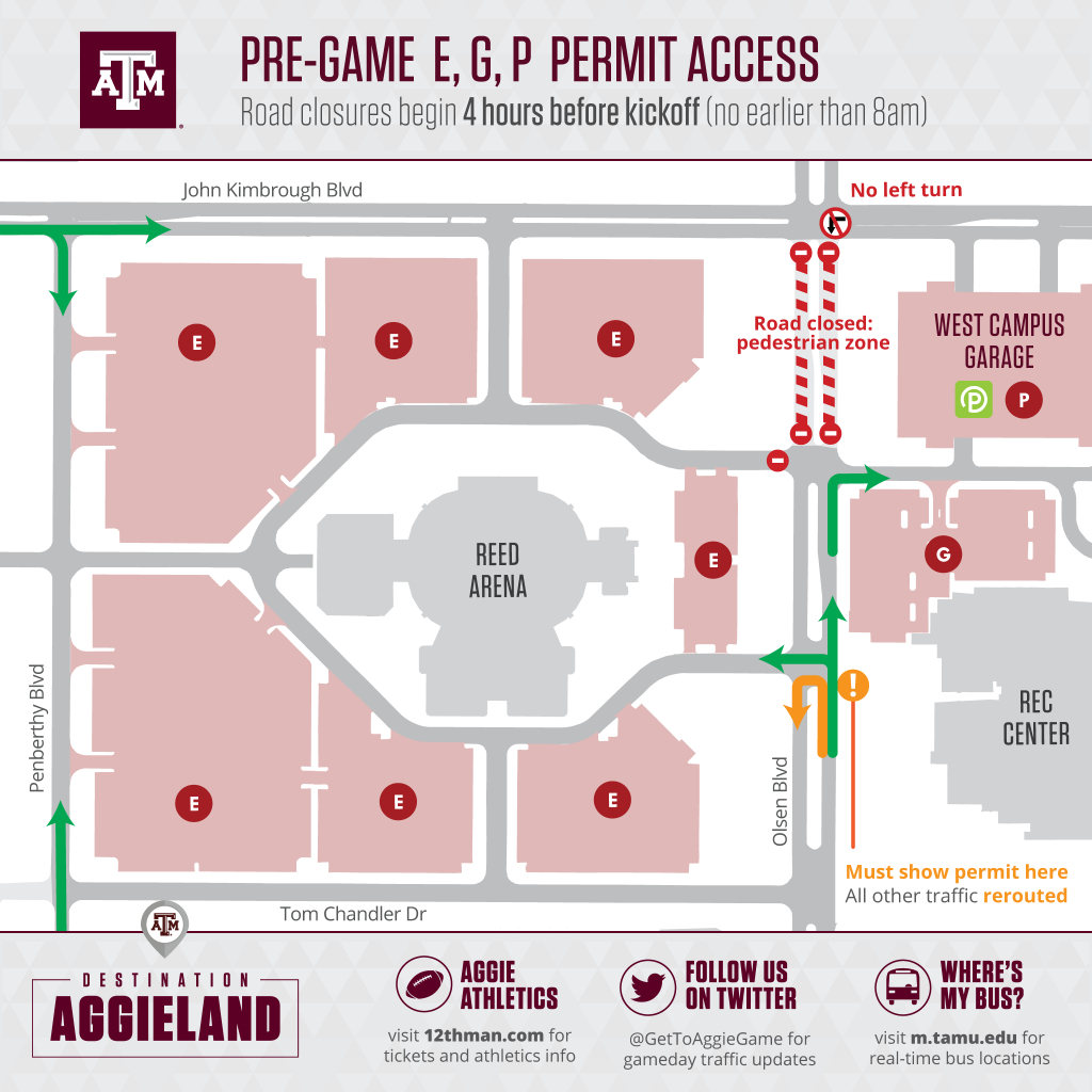 Football Parking & Information - Texas A&m Parking Lot Map