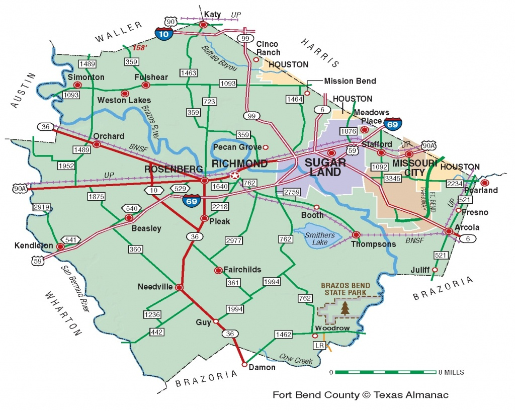 Fort Bend County | The Handbook Of Texas Online| Texas State - Richmond Texas Map
