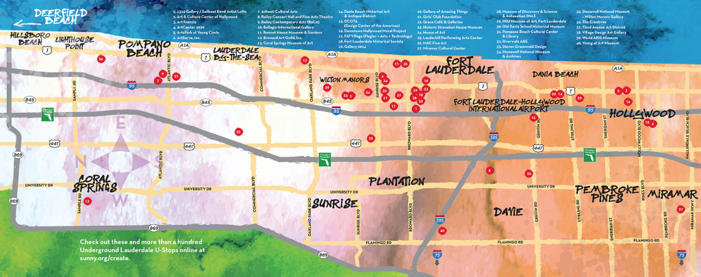 Fort Lauderdale Art Walks & Venues   Underground Lauderdale - Street Map Of Fort Lauderdale Florida