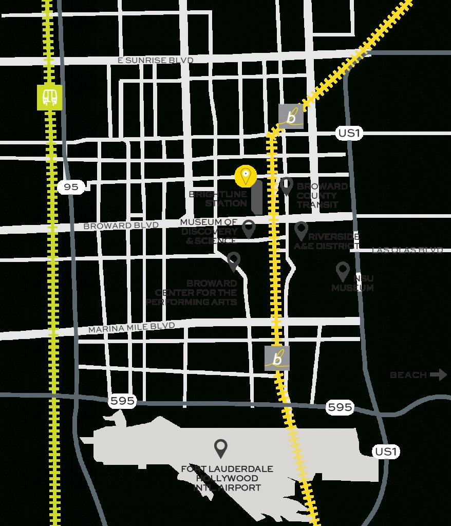 Fort Lauderdale Train Station | Brightline - Florida Brightline Map