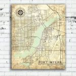 Fort Myers Fl Canvas Print Florida Vintage Map Fort Myers Vintage   Map Of Fort Myers Florida Area