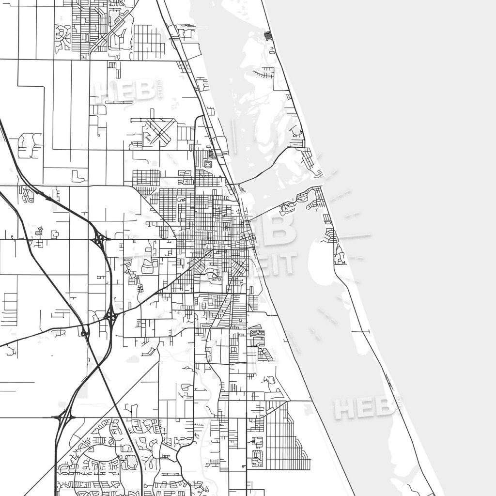Fort Pierce, Florida - Area Map - Light | Hebstreits Sketches - Where Is Ft Pierce Florida On A Map