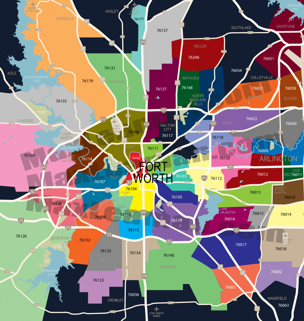 Fort Worth Zip Code Map | Mortgage Resources - Houston Zip Code Map Printable