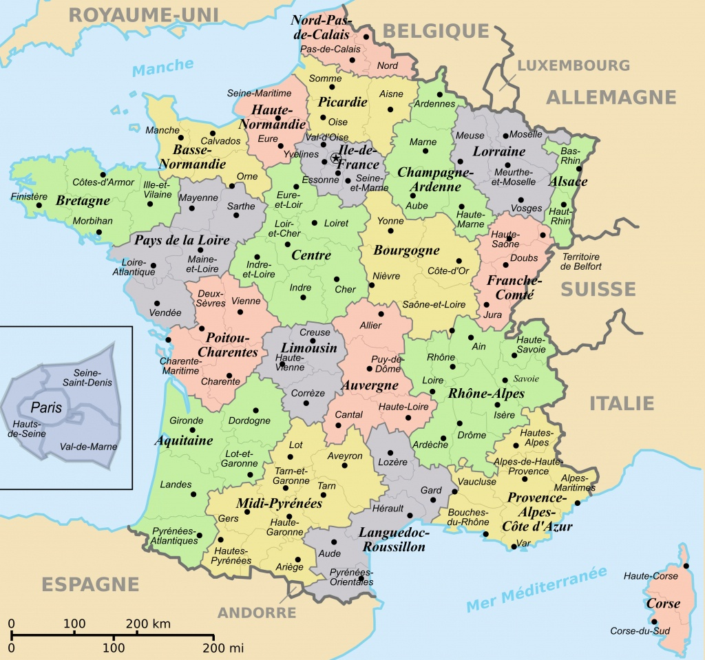 France Maps | Maps Of France - Large Printable Map Of France