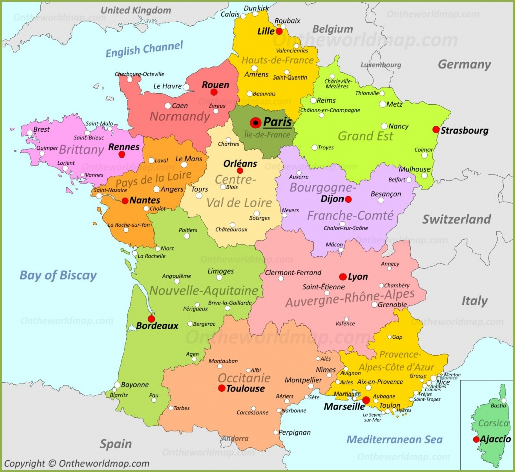 France Maps   Maps Of France - Printable Road Map Of France
