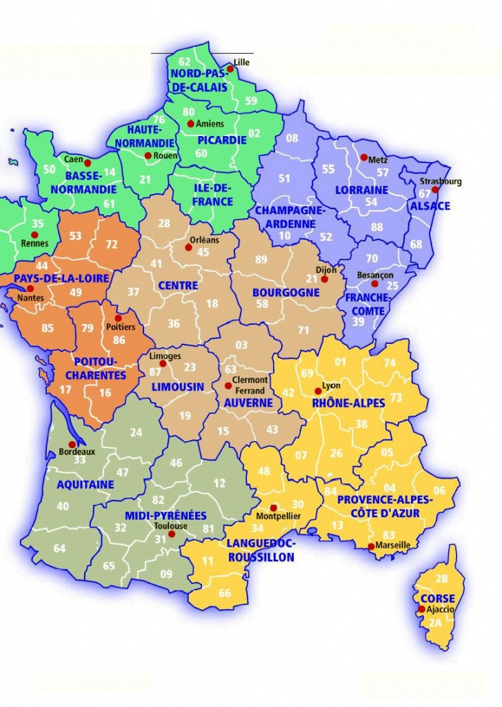 France Maps | Printable Maps Of France For Download - Large Printable Map Of France