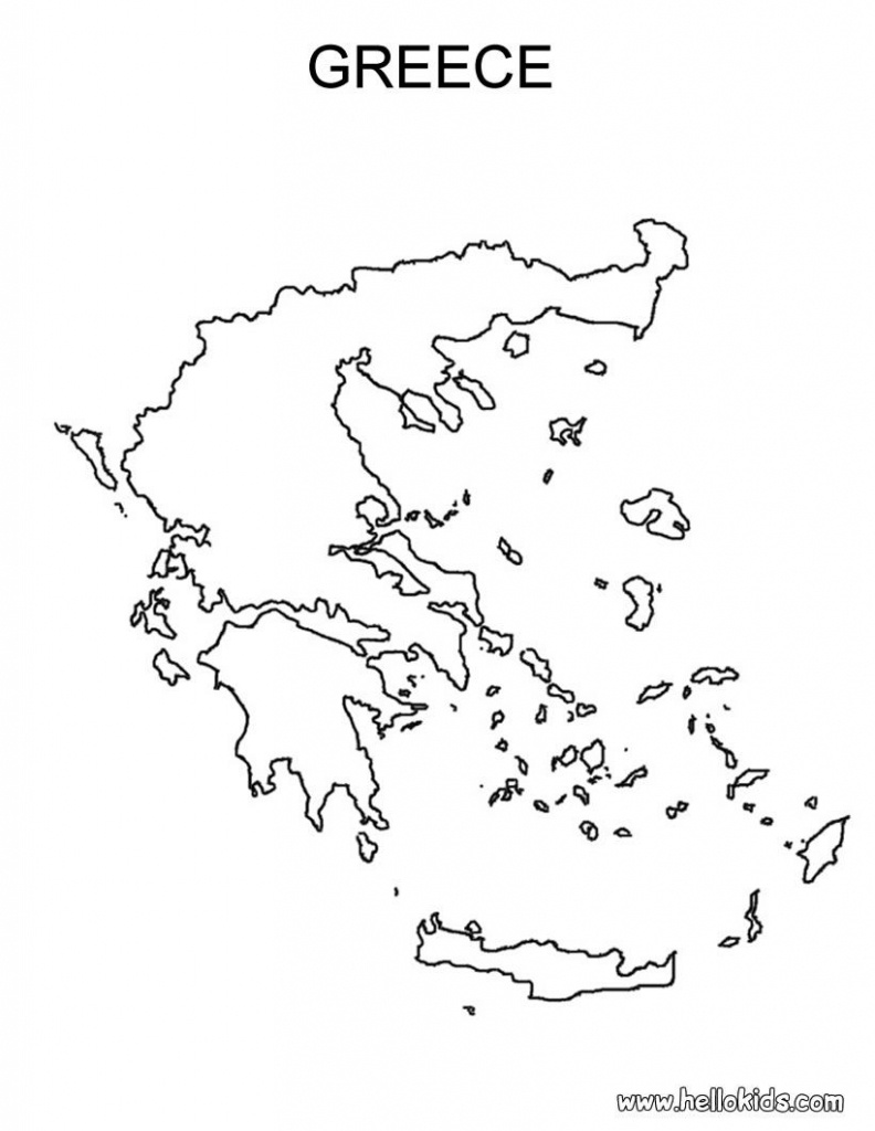 Free Coloring Maps For Kids   Greece Coloring Page   Ελλαδα Μου - Ancient Greece Map For Kids Printables