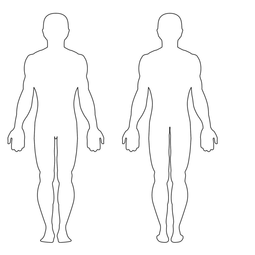 Free Human Body Outline Printable, Download Free Clip Art, Free Clip - Printable Body Maps