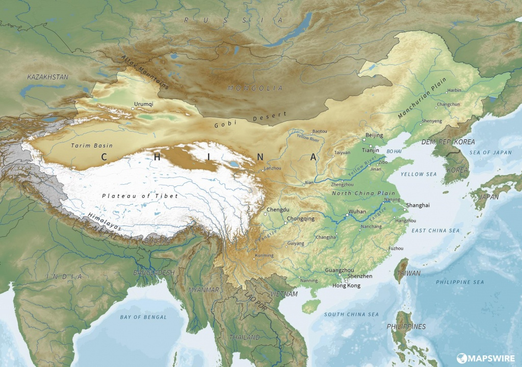 Free Maps Of China – Mapswire - Free Printable Map Of China