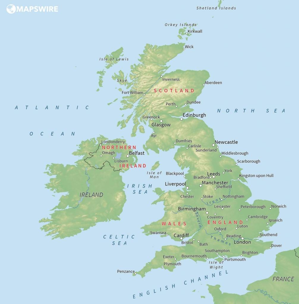 Free Maps Of The United Kingdom – Mapswire - Uk Map Printable Free