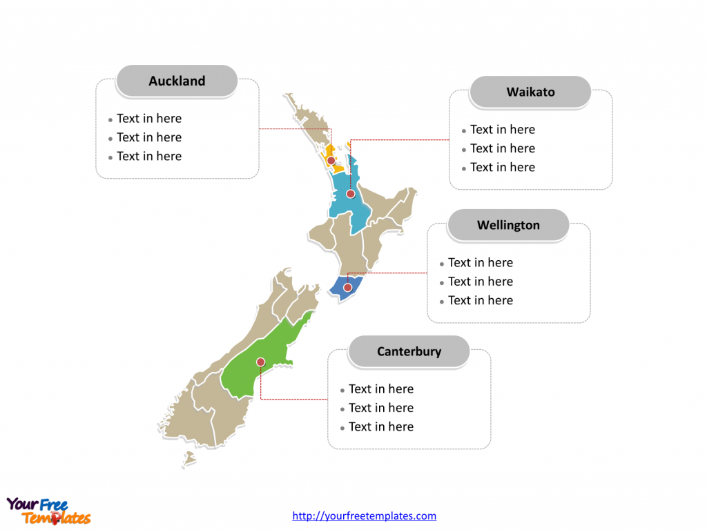 Free New Zealand Editable Map - Free Powerpoint Templates - Outline Map Of New Zealand Printable