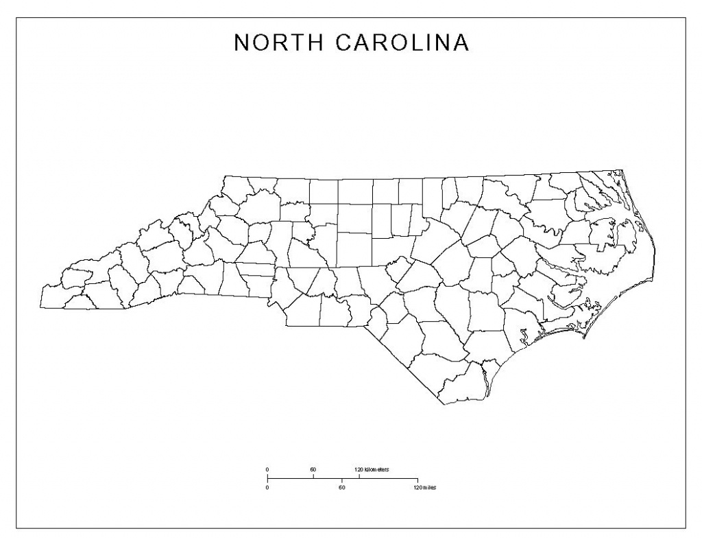 Free North Carolina Map | North Carolina Blank Map | North Carolina - Printable Map Of North Carolina
