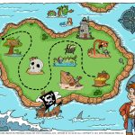 Free Pirate Treasure Maps For A Pirate Birthday Party Treasure Hunt   Children's Treasure Map Printable