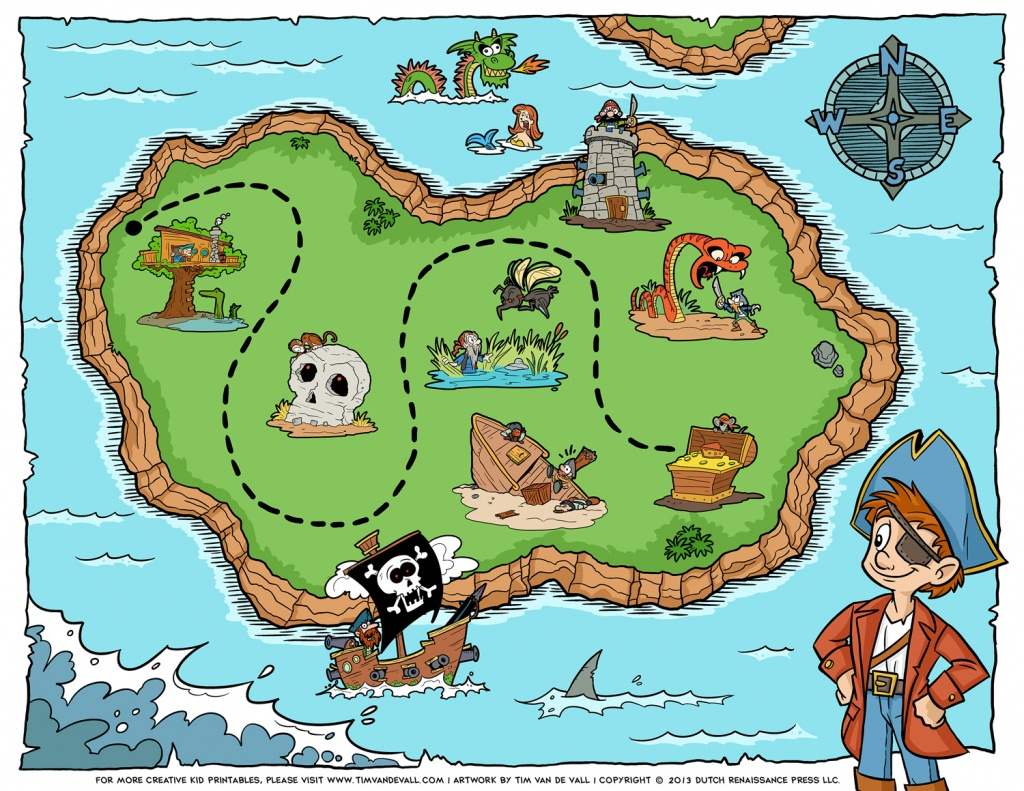 Free Pirate Treasure Maps For A Pirate Birthday Party Treasure Hunt - Children's Treasure Map Printable