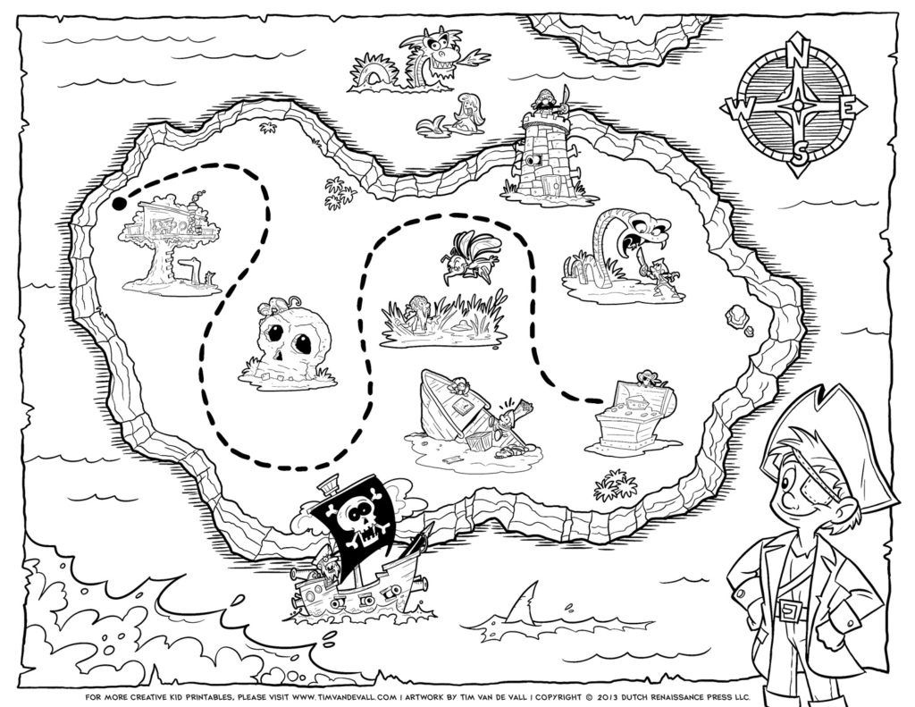 Free Pirate Treasure Maps For A Pirate Birthday Party Treasure Hunt - Printable Pirate Map