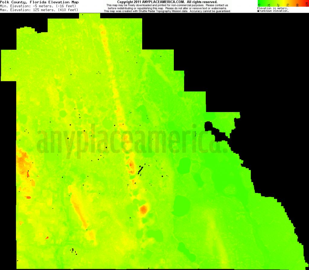 Free Polk County, Florida Topo Maps & Elevations - Florida Elevation Map Free