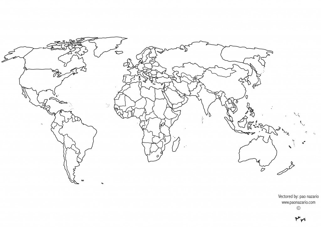Free Printable Black And White World Map With Countries Best Of - Coloring World Map Printable