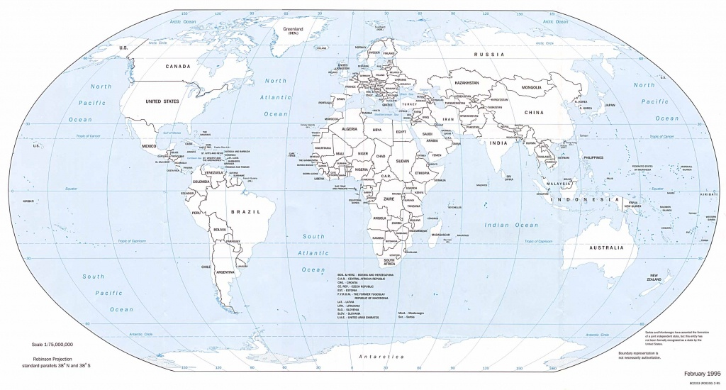 Free Printable Black And White World Map With Countries Labeled And - Free Printable World Map With Country Names