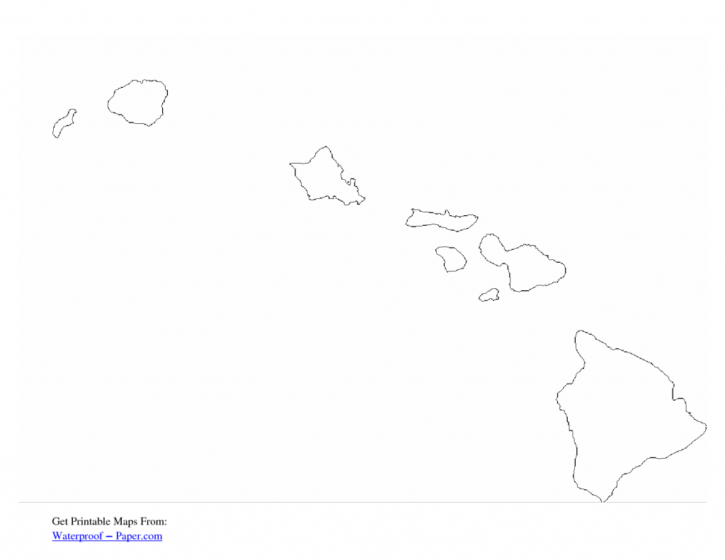Free Printable Hawaii Outline Map | Co Op In 2019 | Hawaii, Free - Printable Map Of Hawaii